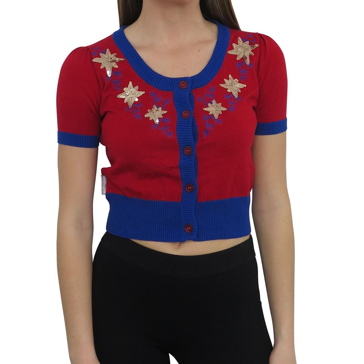 Captain Marvel Women's Vintage Cardigan