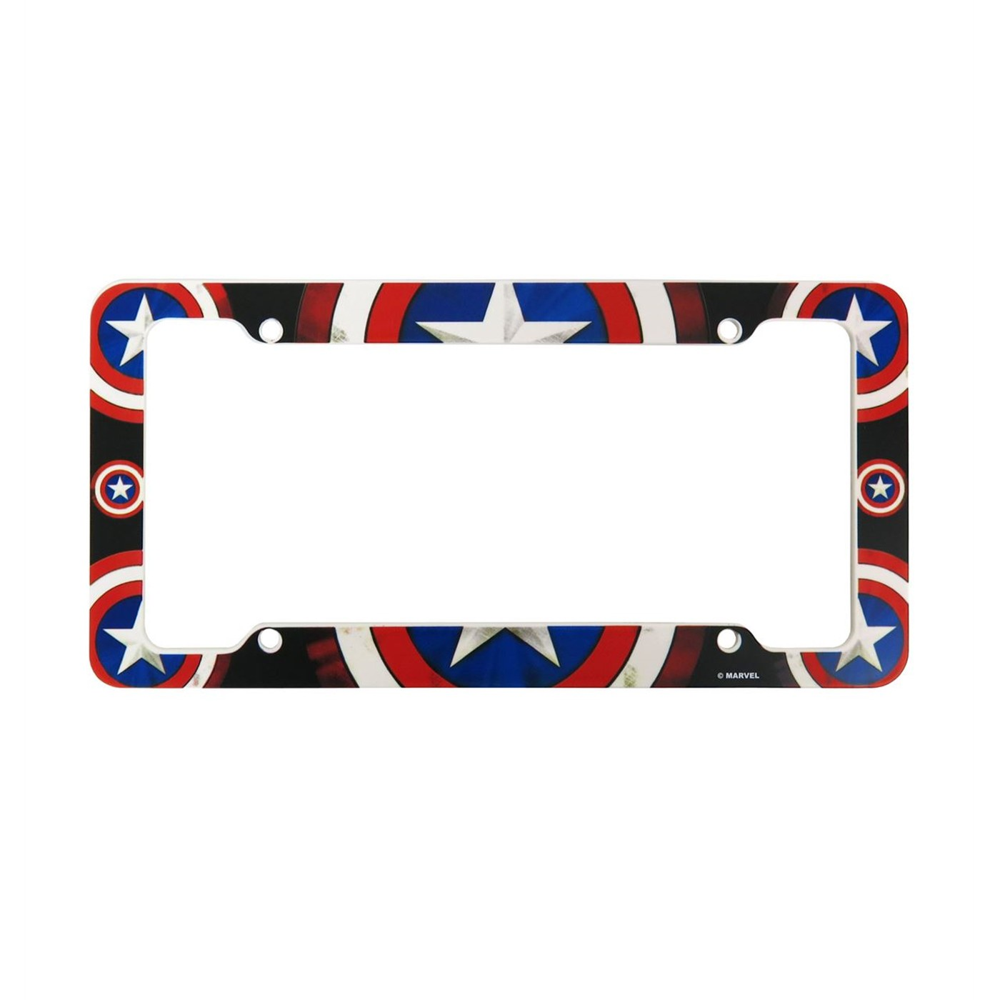 Captain America Shields License Plate Frame