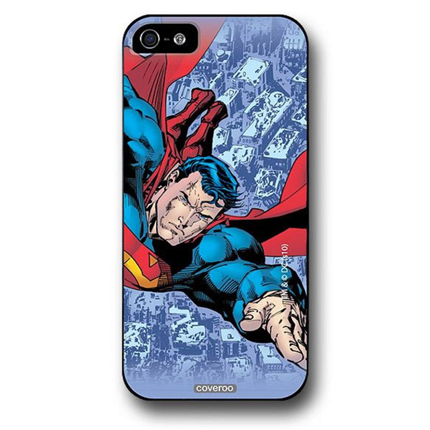 Superman Strafing Ruins iPhone 5 Snap Case