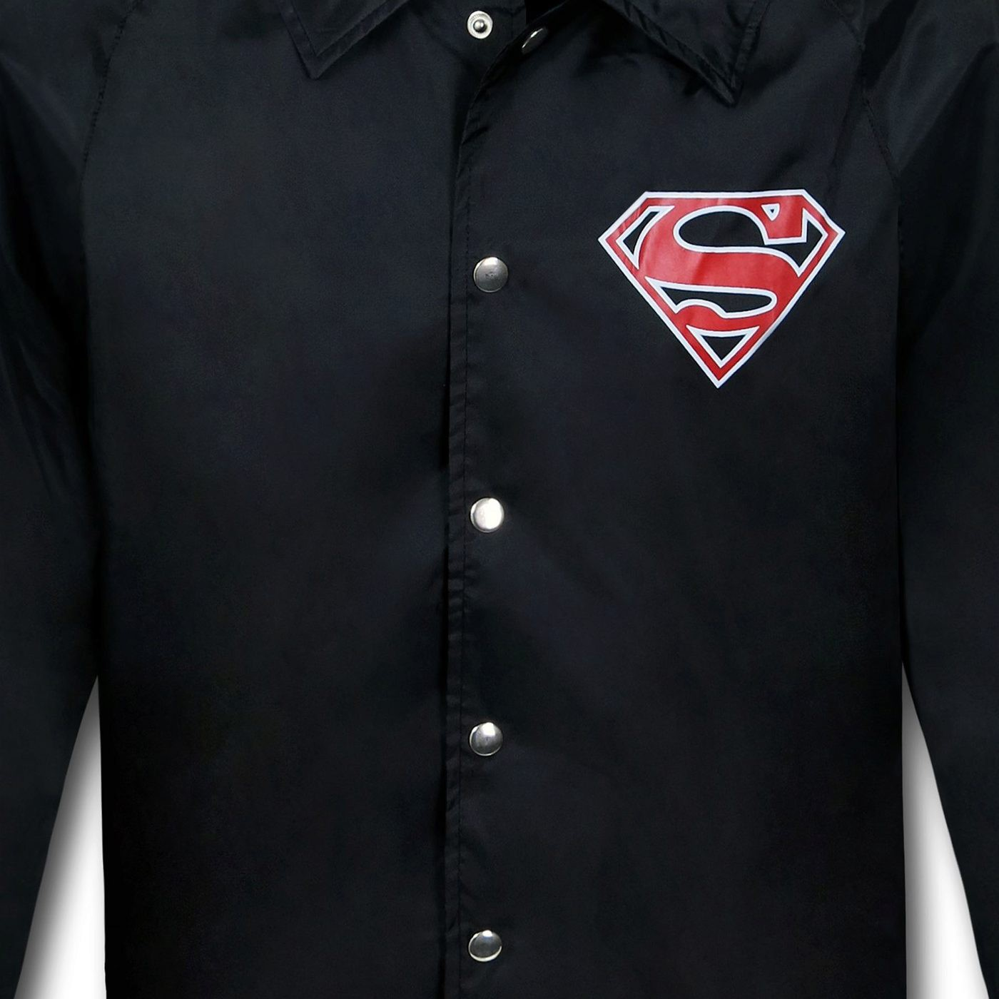 Superman Symbol Black Windbreaker