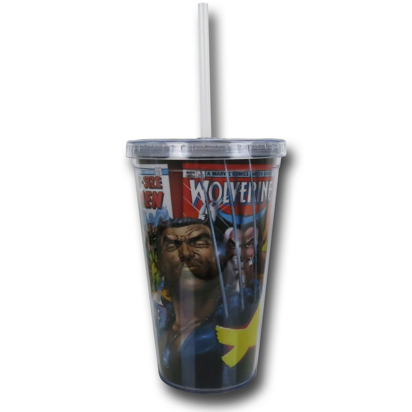 Wolverine Comic Cover 18oz Acrylic Cold Cup