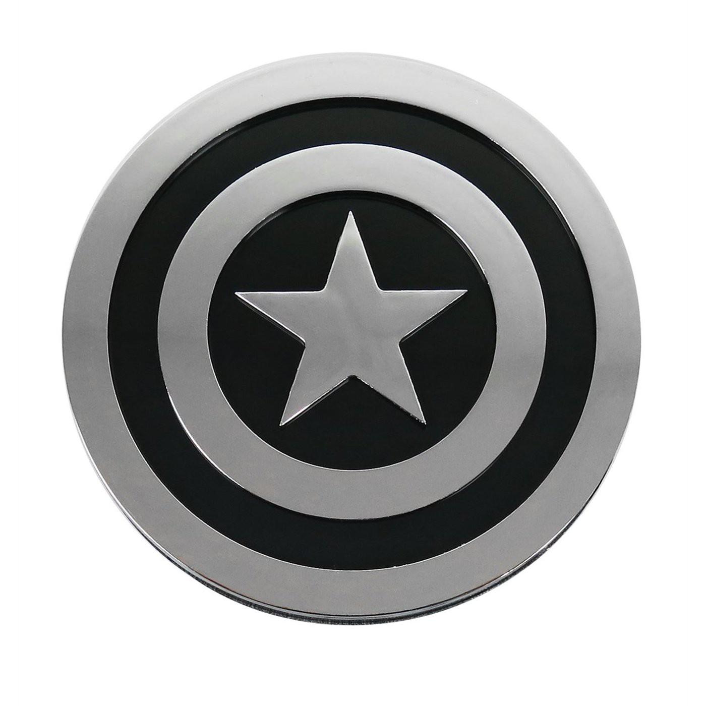 Captain America Shield Chrome and Black Car Emblem