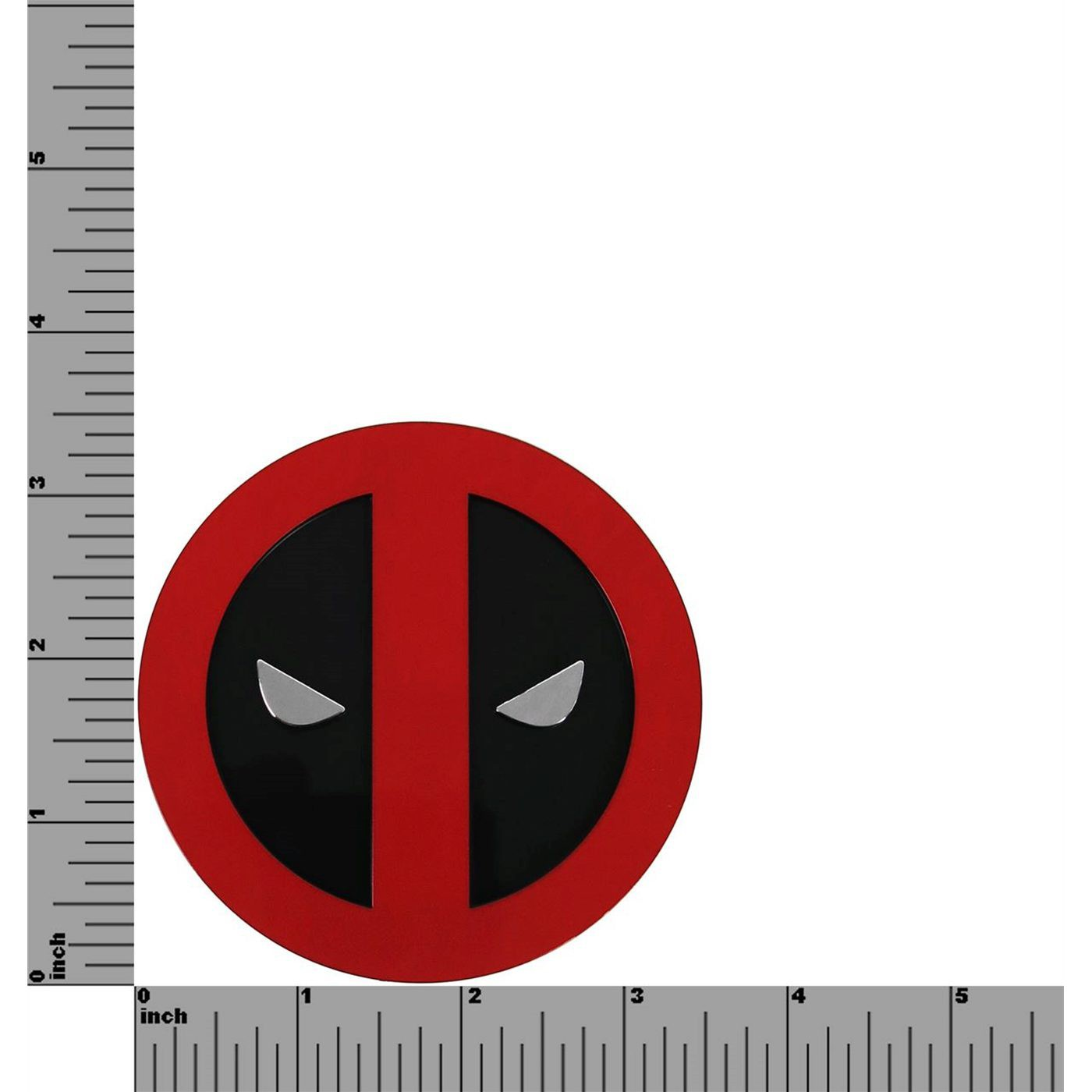Deadpool Color Symbol Chome Car Emblem
