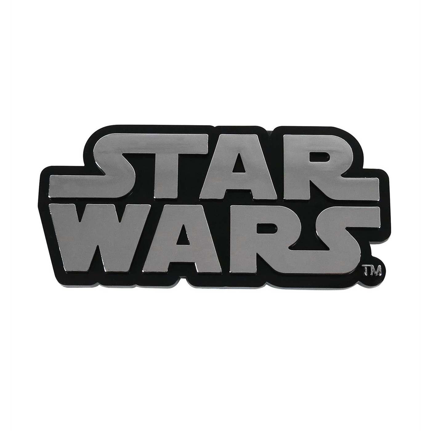 Star Wars Logo Chrome Car Emblem