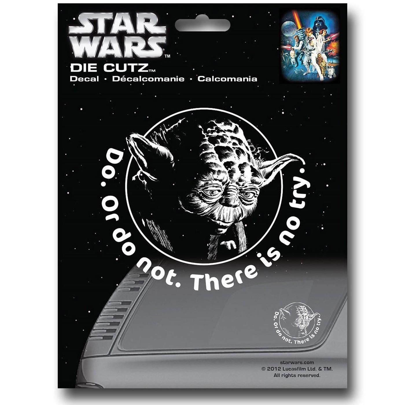 Star Wars Yoda Die Cut Decal
