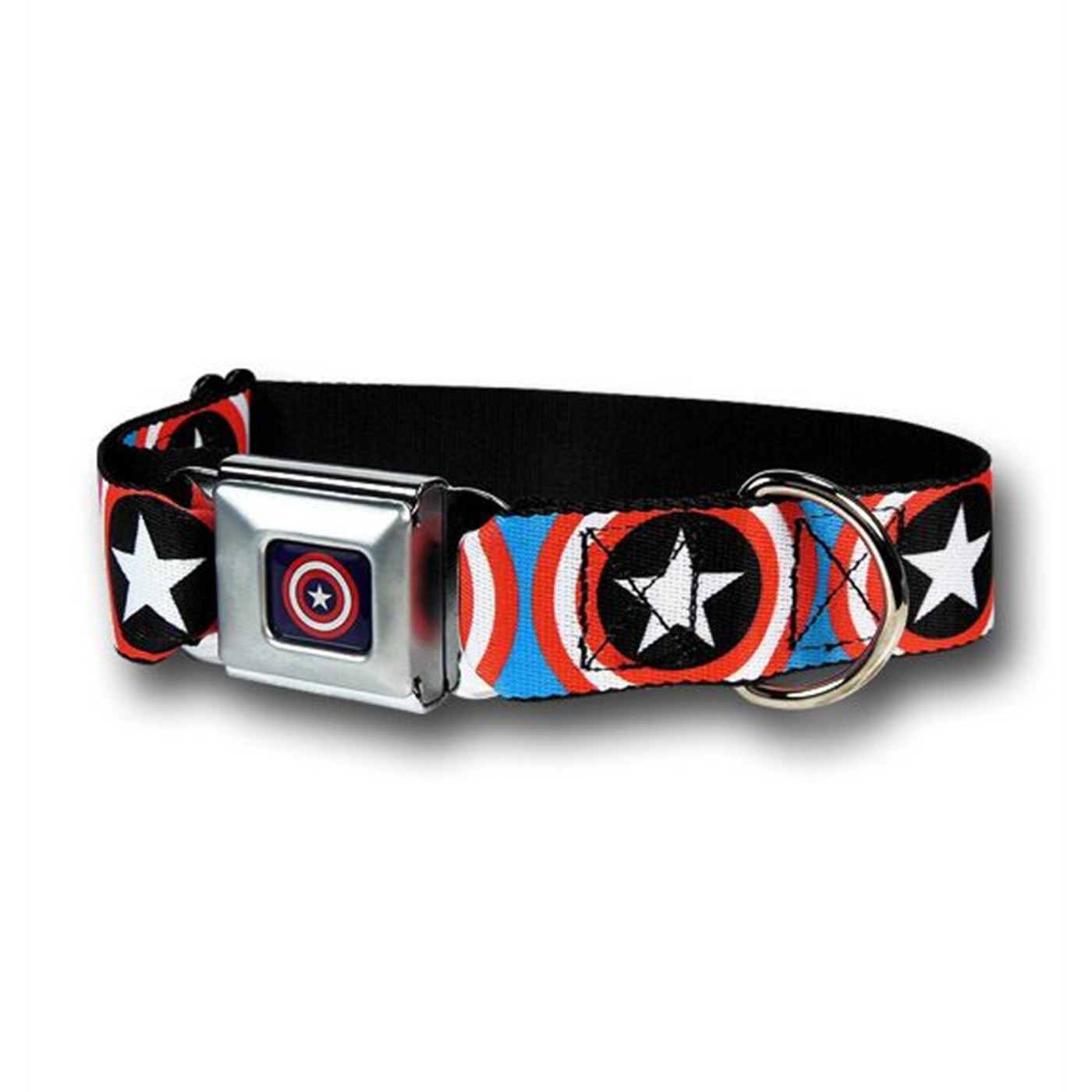 Captain America Shields on Blue Dog Collar
