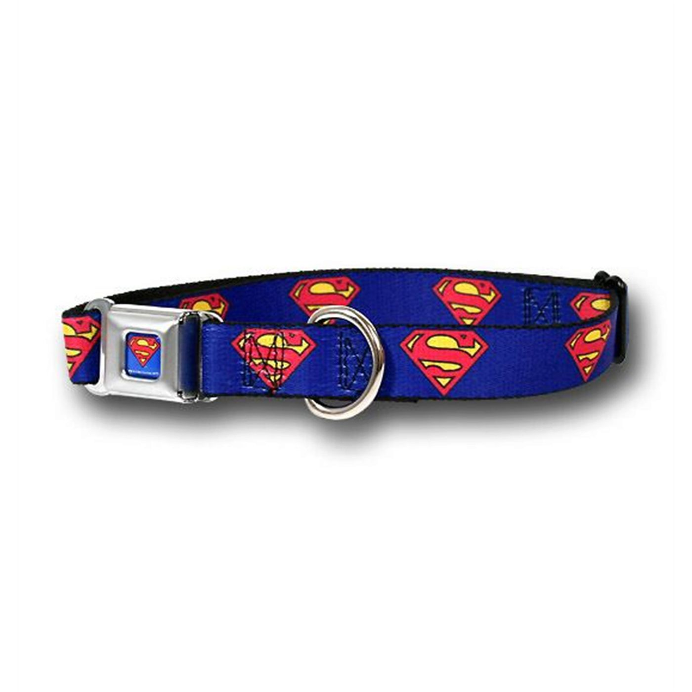 Superman Symbols Blue Dog Collar