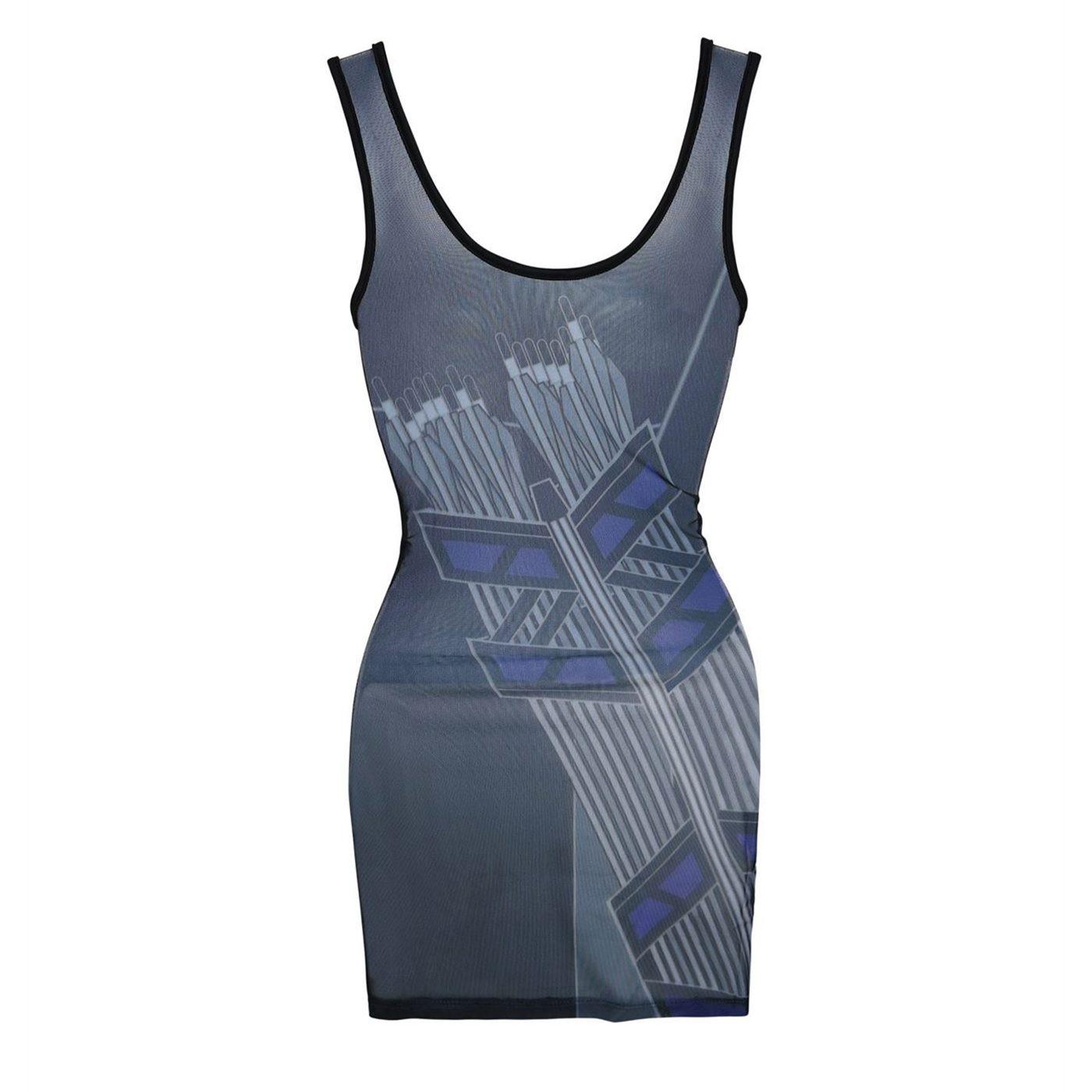 Hawkeye Costume Women's Mesh Back Dress