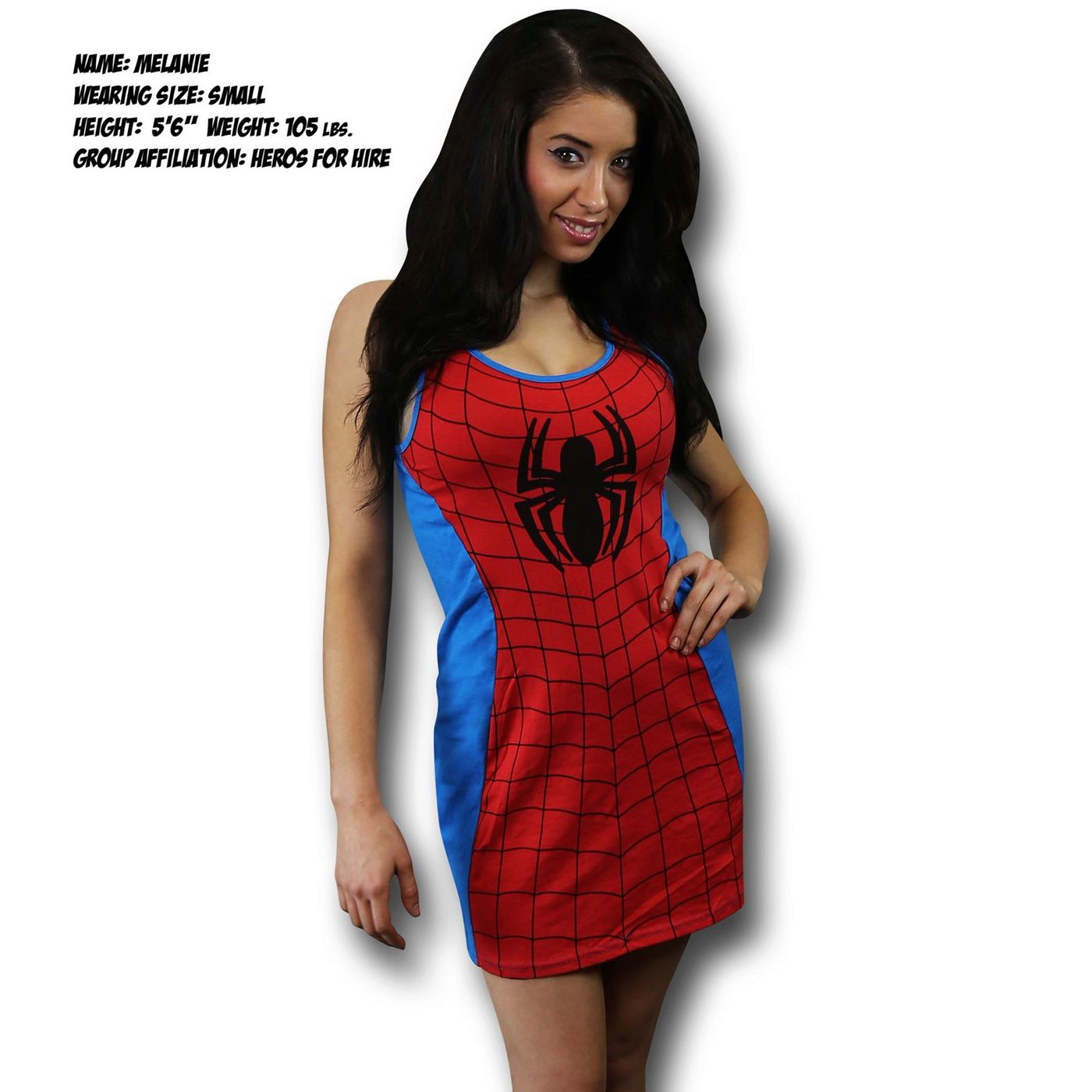 Spiderman Spidergirl Women's Costume Tank Dress