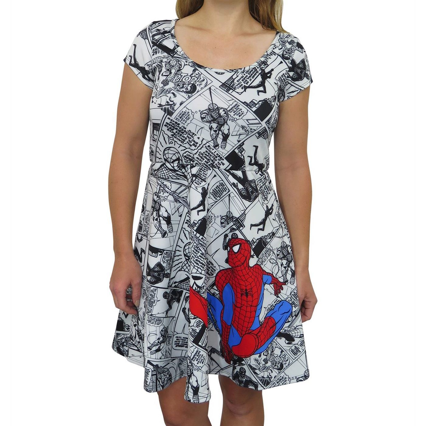 Spider-Man Comic Pop Sublimated Women's Dress