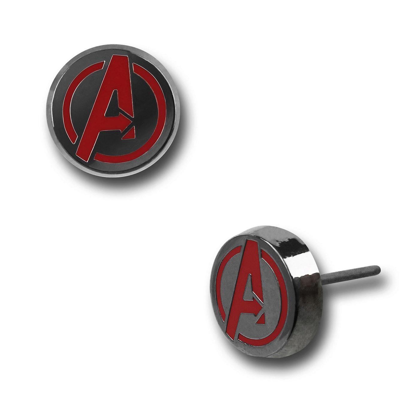 Avengers Symbol Stud Earrings