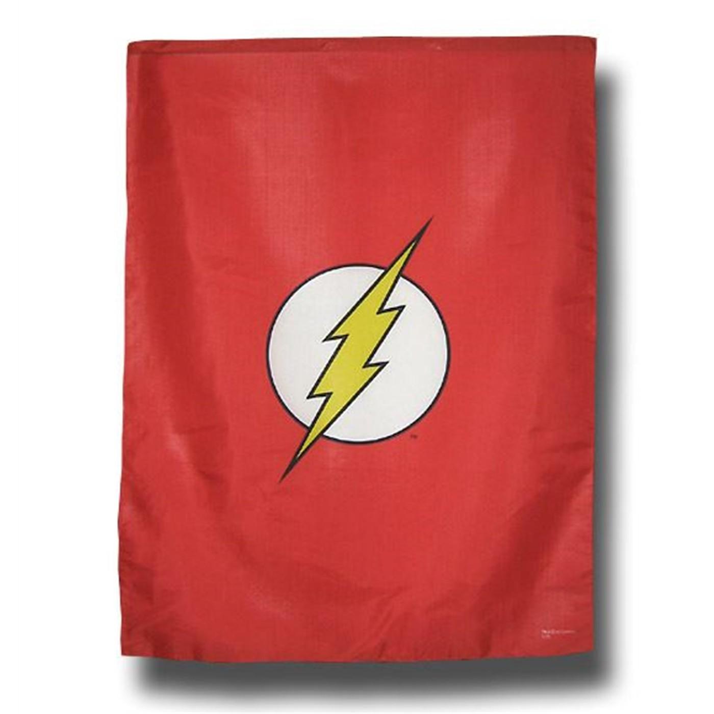Flash Symbol Red Fabric Flag