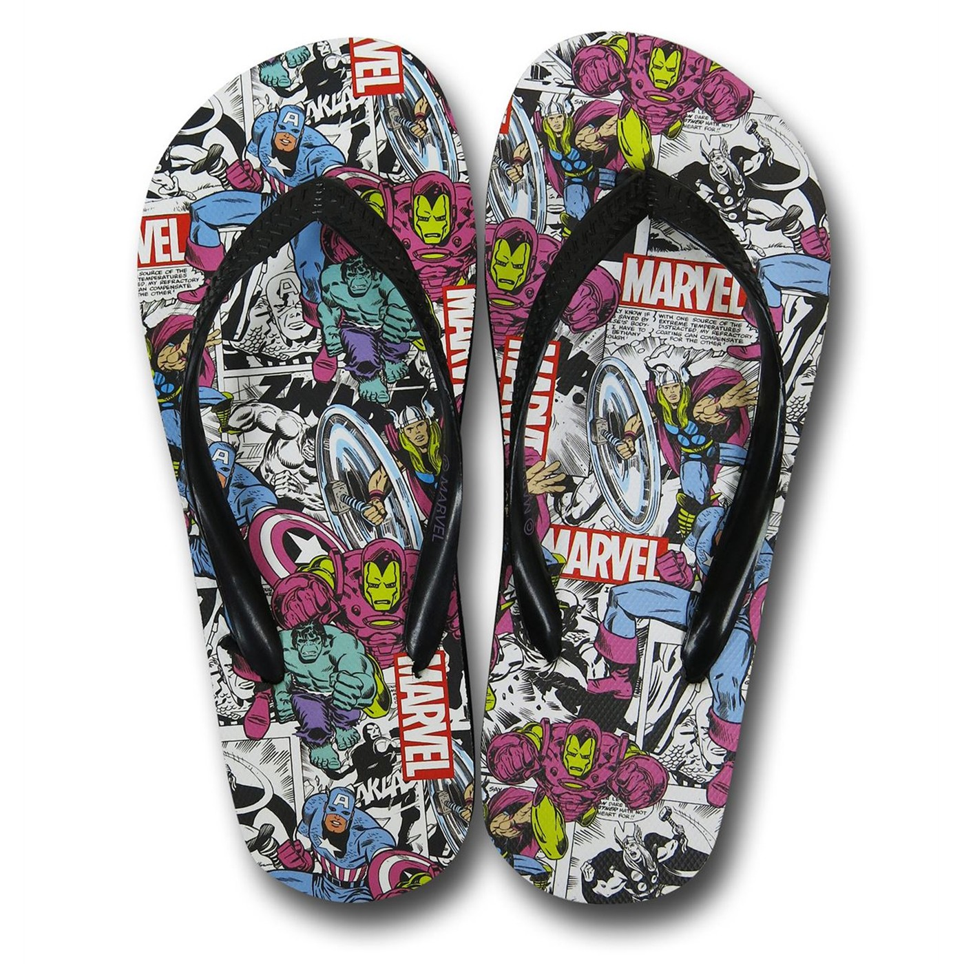 Marvel Collage Women's Flip Flops