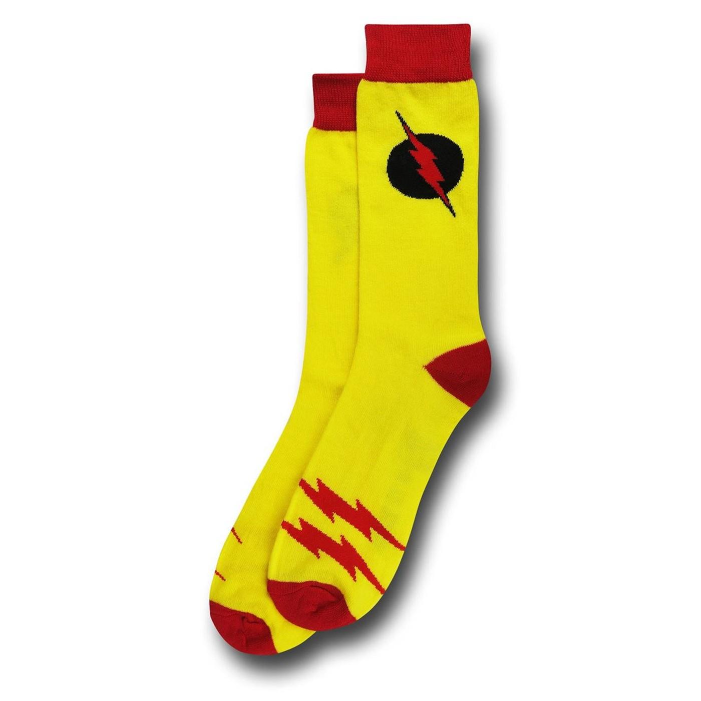 Reverse Flash Classic Symbol Crew Sock