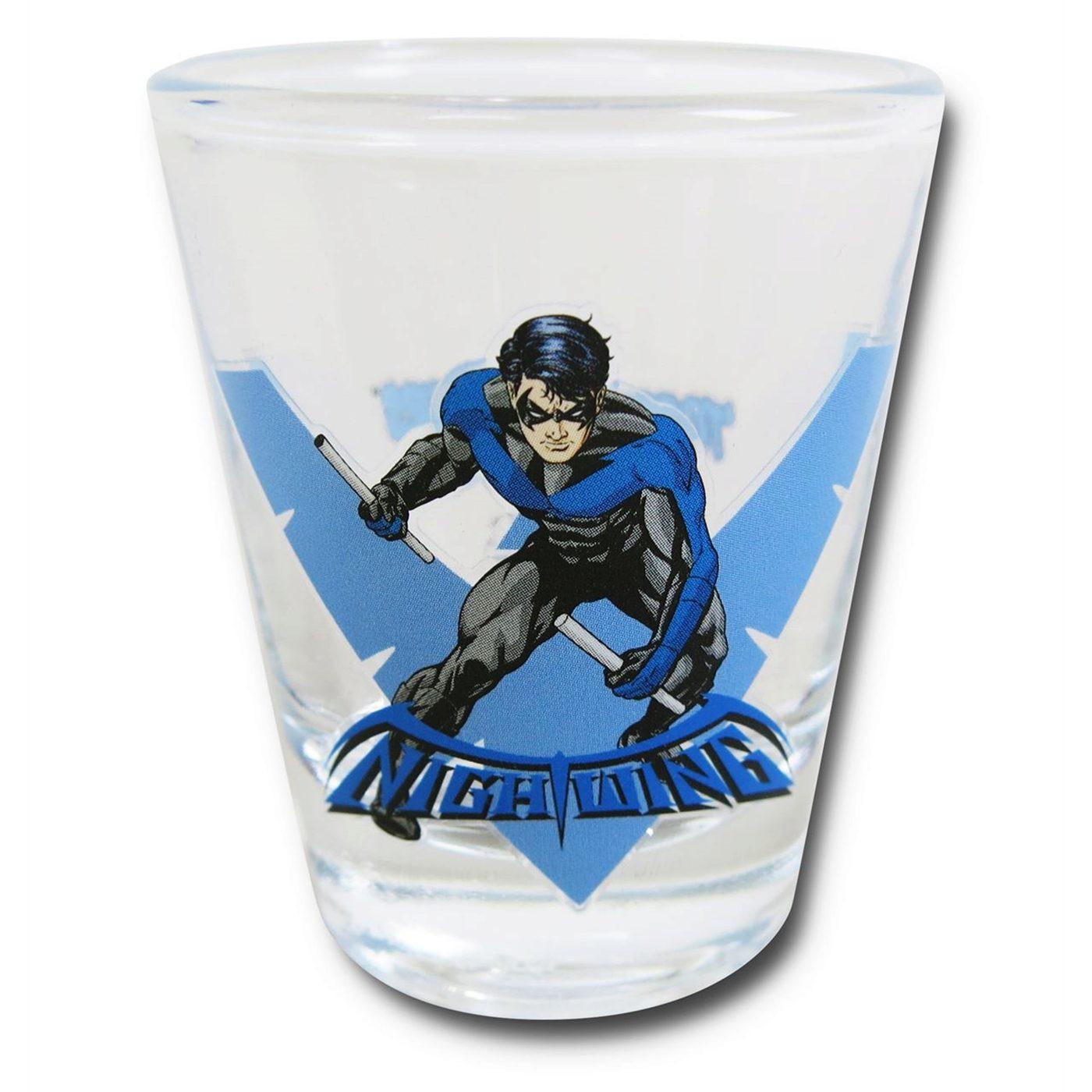 Nightwing Stance Mini Glass