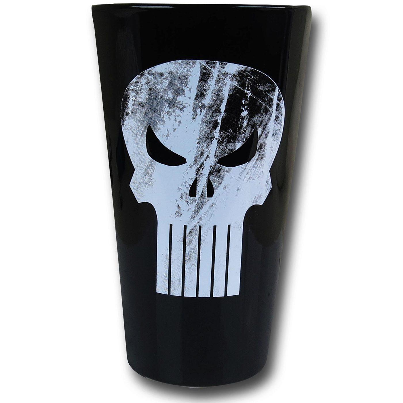 Punisher Symbol Pint Glass