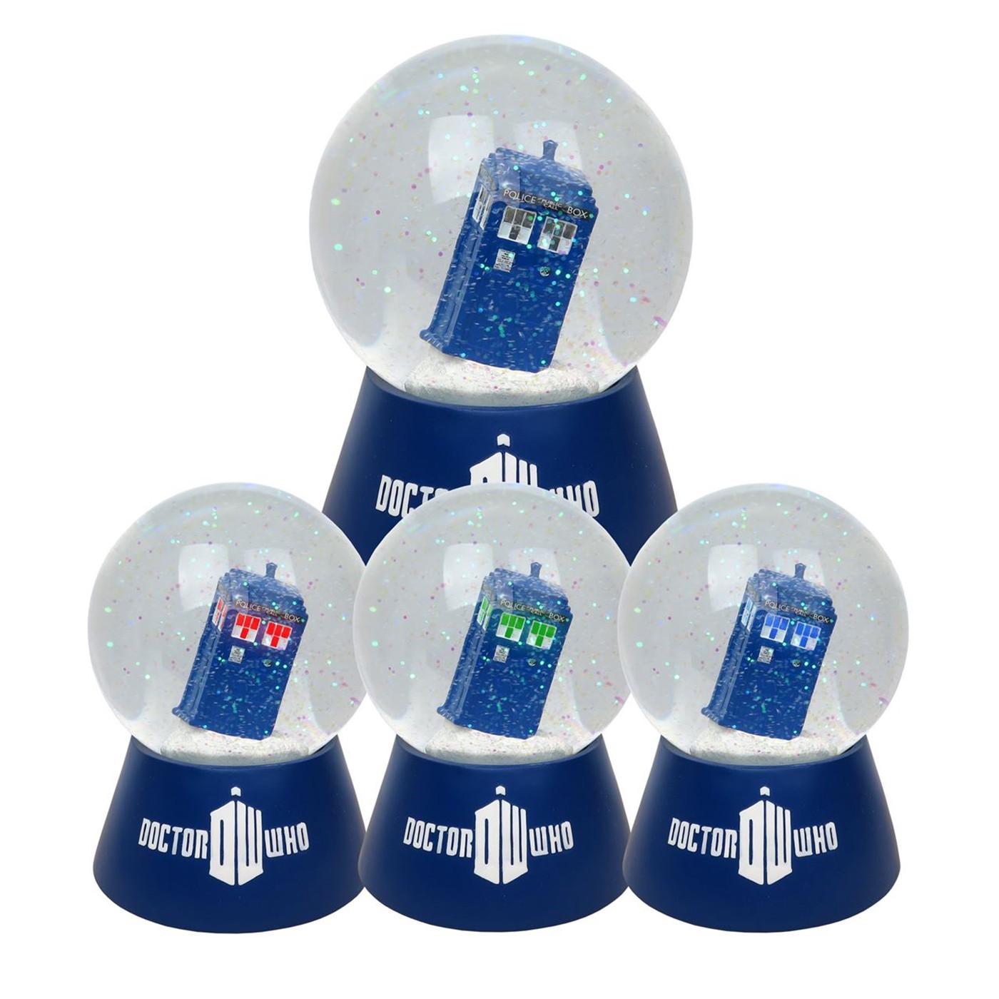 Doctor Who Tardis Lighted Snow Globe