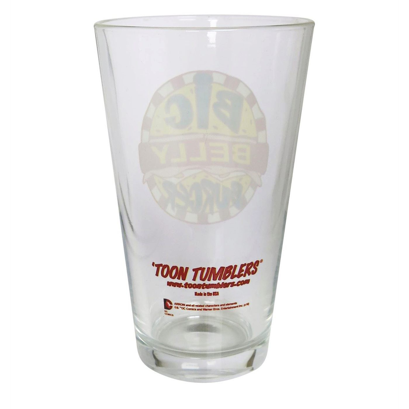 Arrow Big Belly Burger Pint Glass