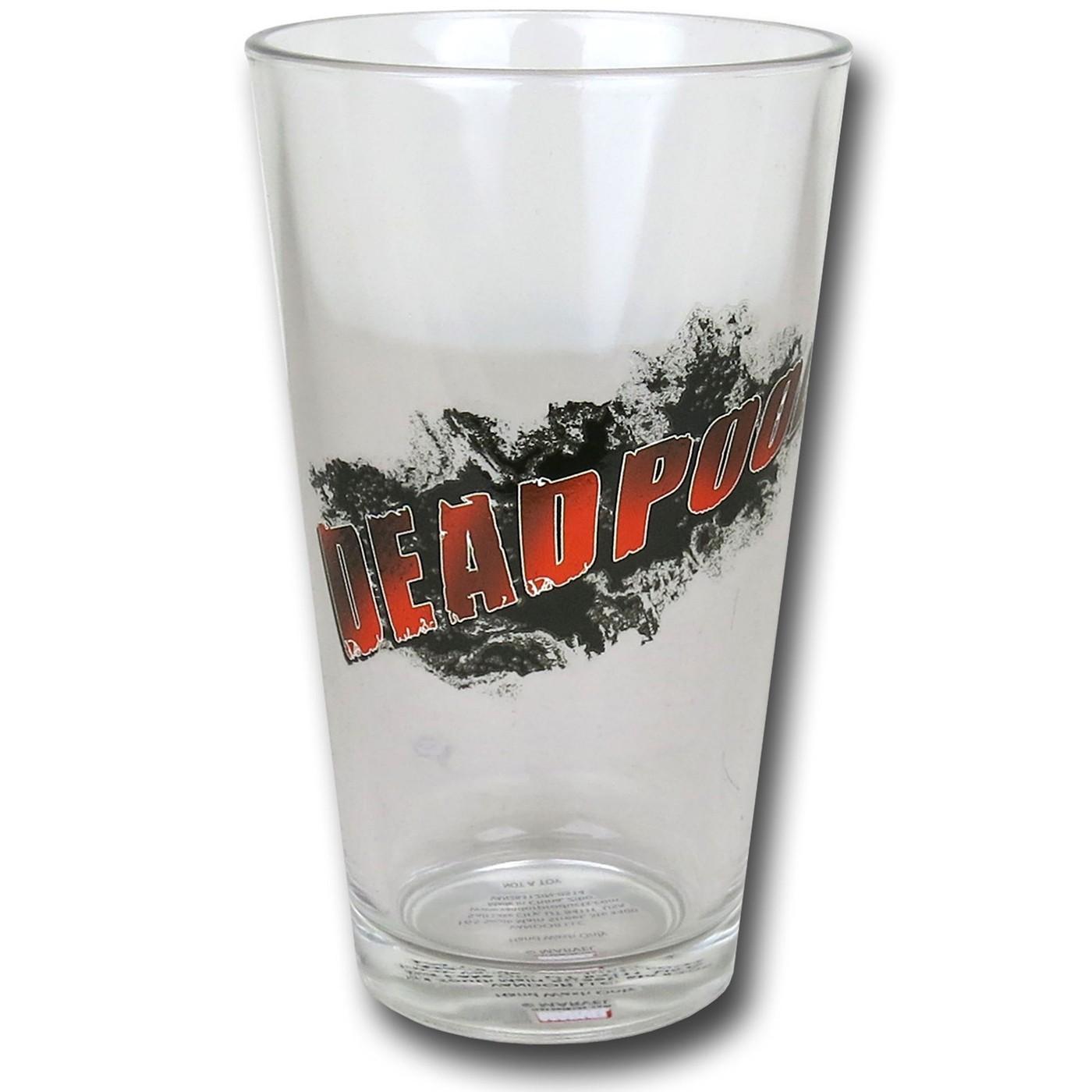 Deadpool 4-Piece Pint Glass Set