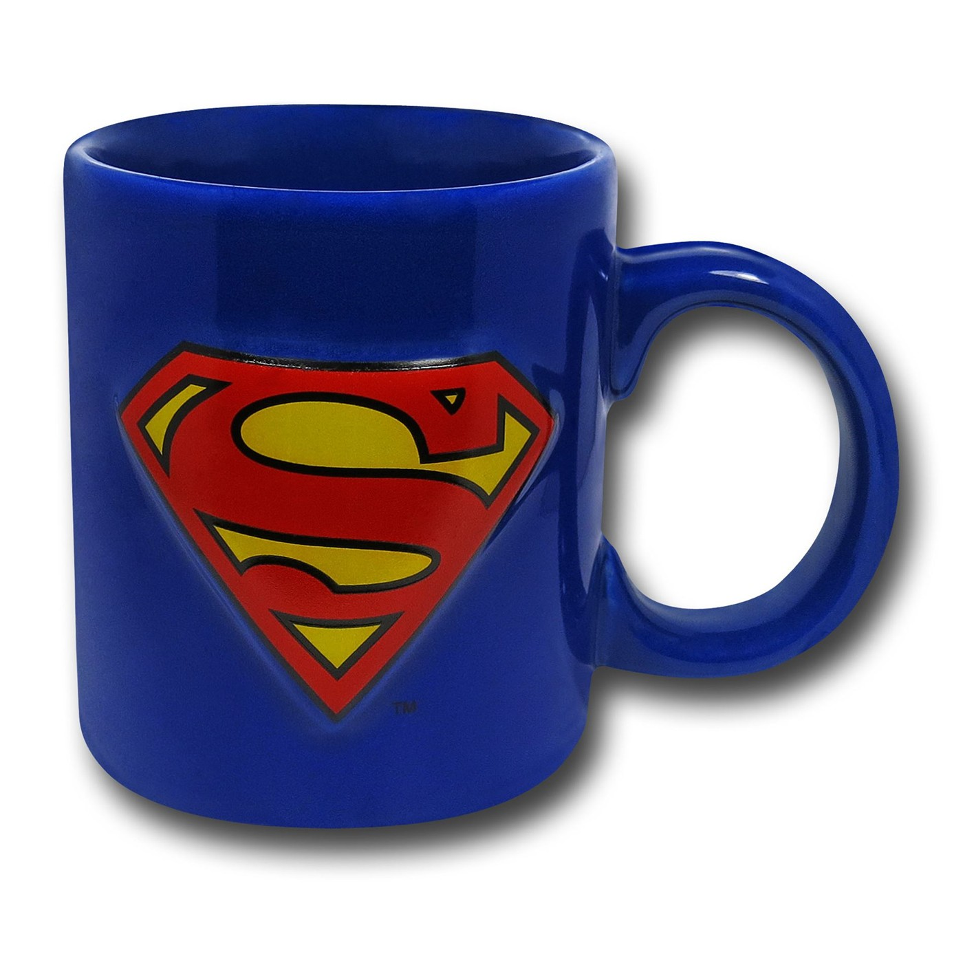 Superman Embossed Symbol 20 oz Ceramic Mug