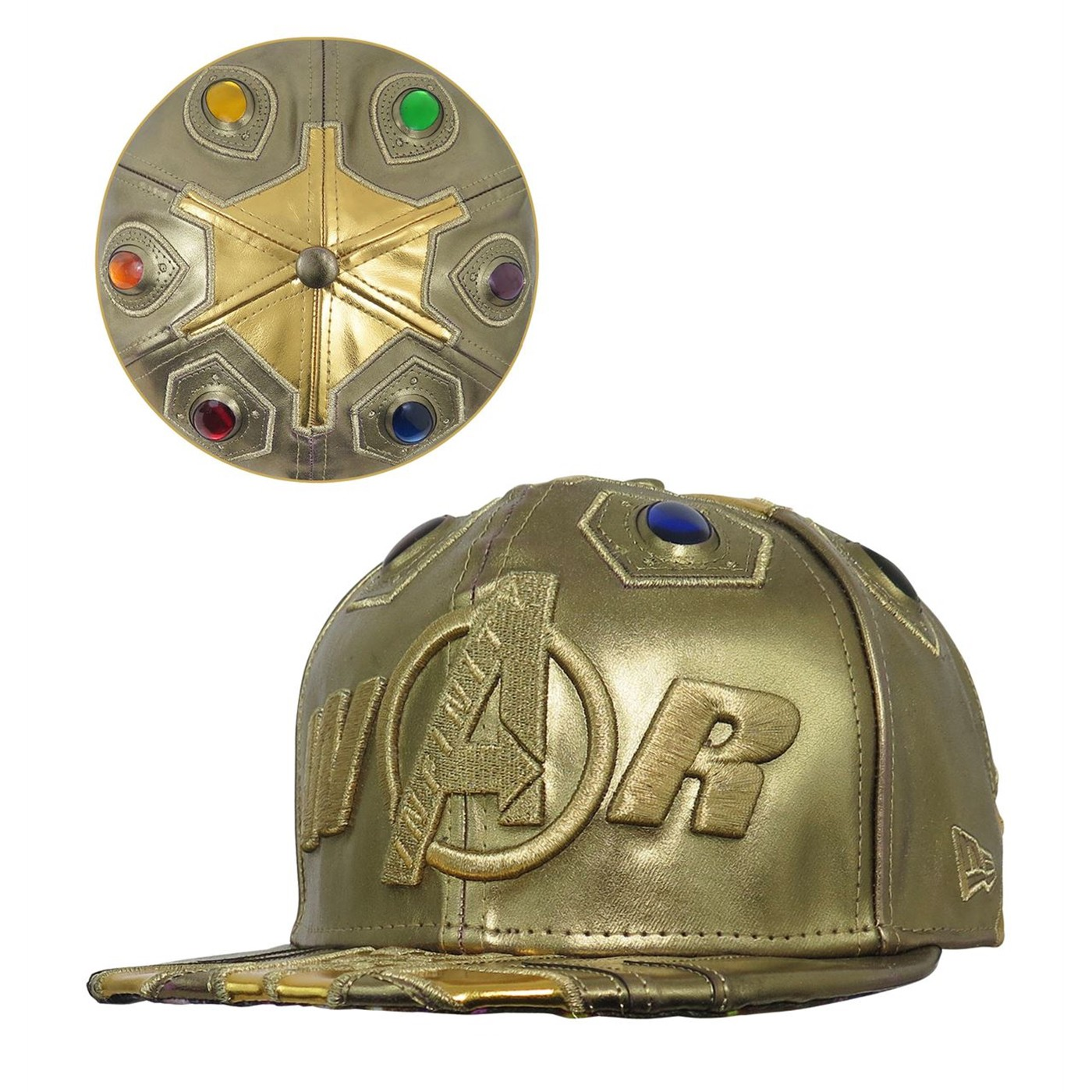 b8609cb8 Avengers Infinity War Gauntlet 59Fifty Fitted Hat
