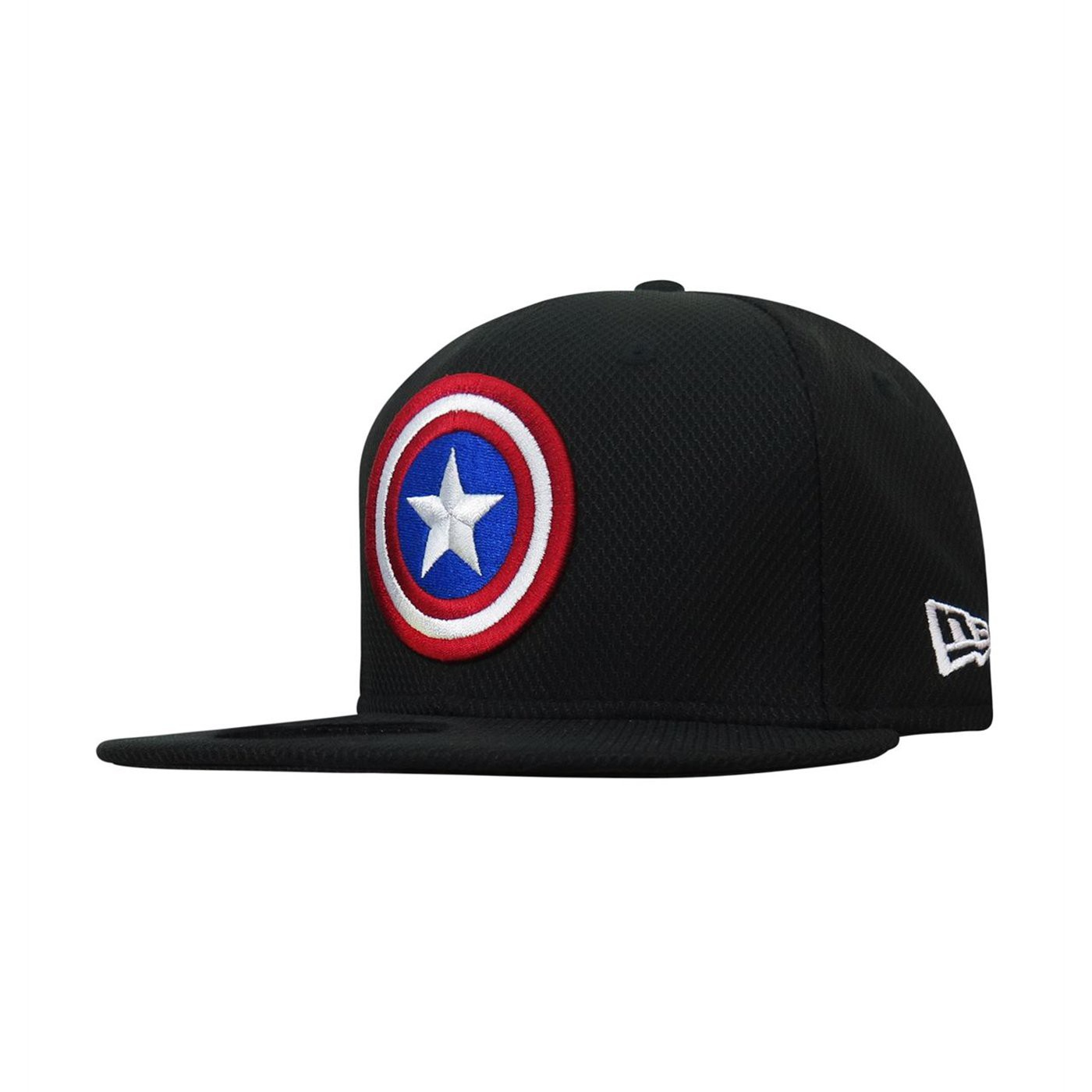 Captain America Symbol On Black 9Fifty Adjustable Hat