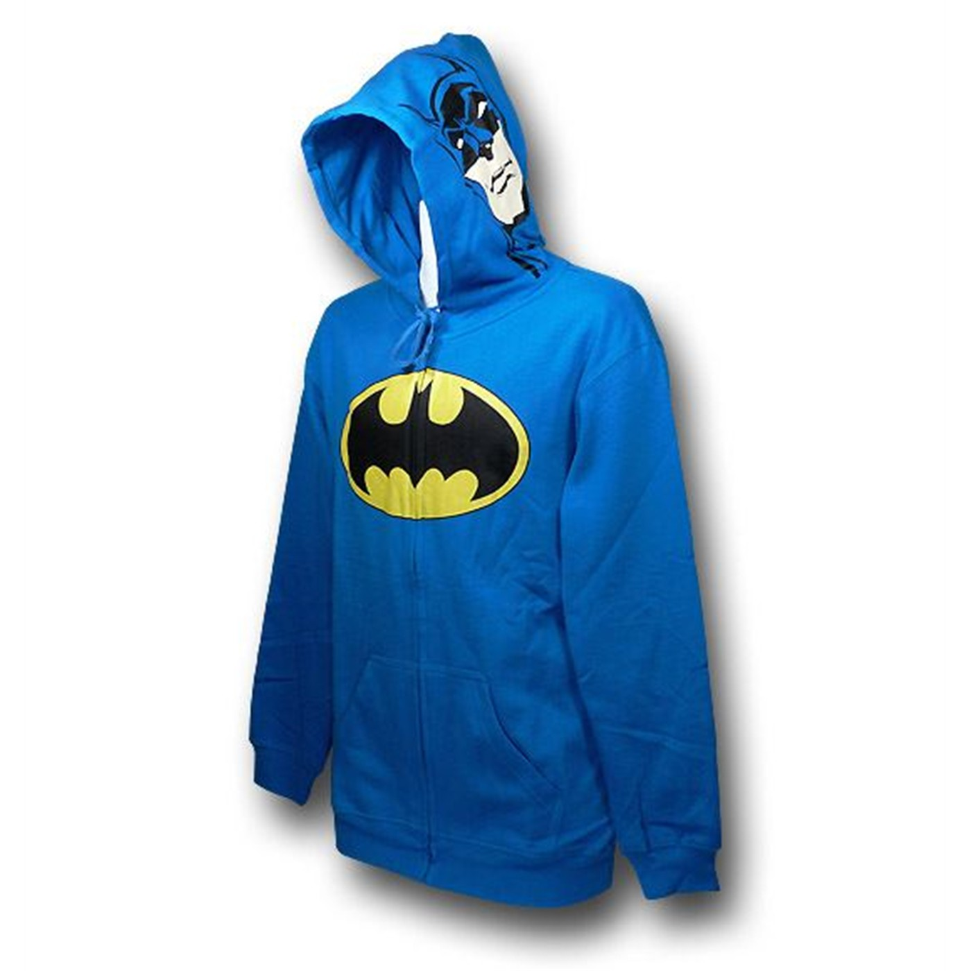 Batman Costume Sideward Glance Zip-Up Hoodie
