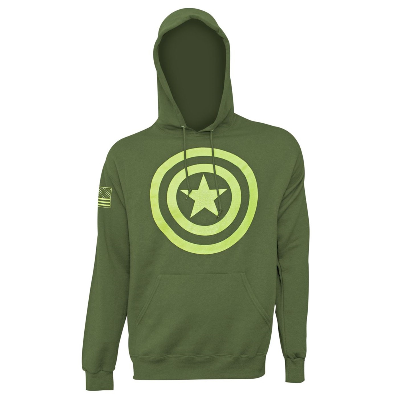 lowest price 5ec59 534ea Captain America Salute to Service Men's Hoodie