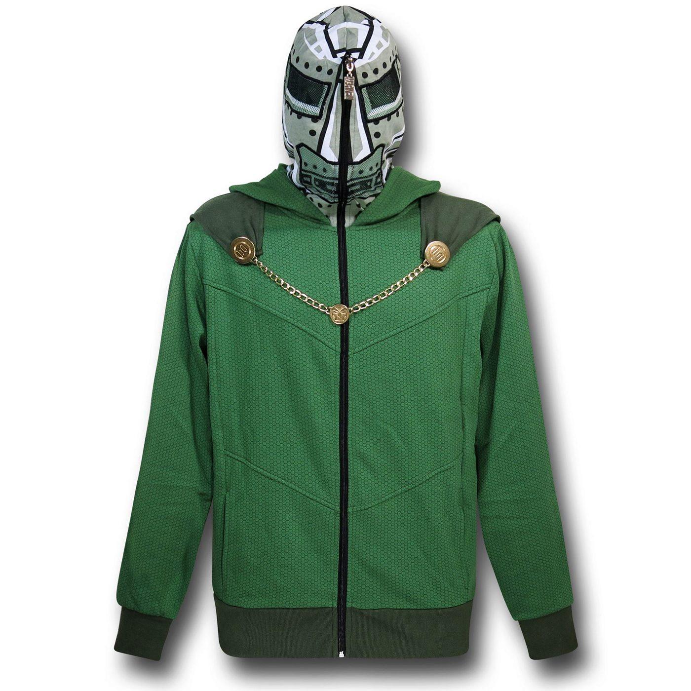 Doctor Doom Masked Costume Hoodie