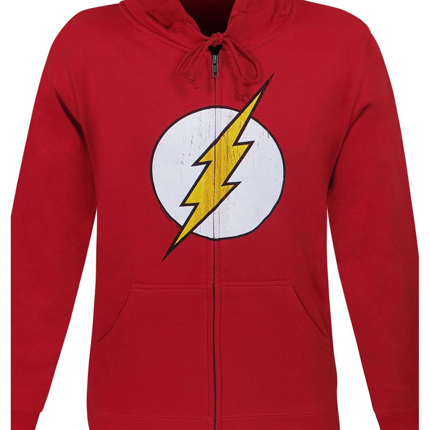 Flash Distressed Symbol Men's Zipper Hoodie