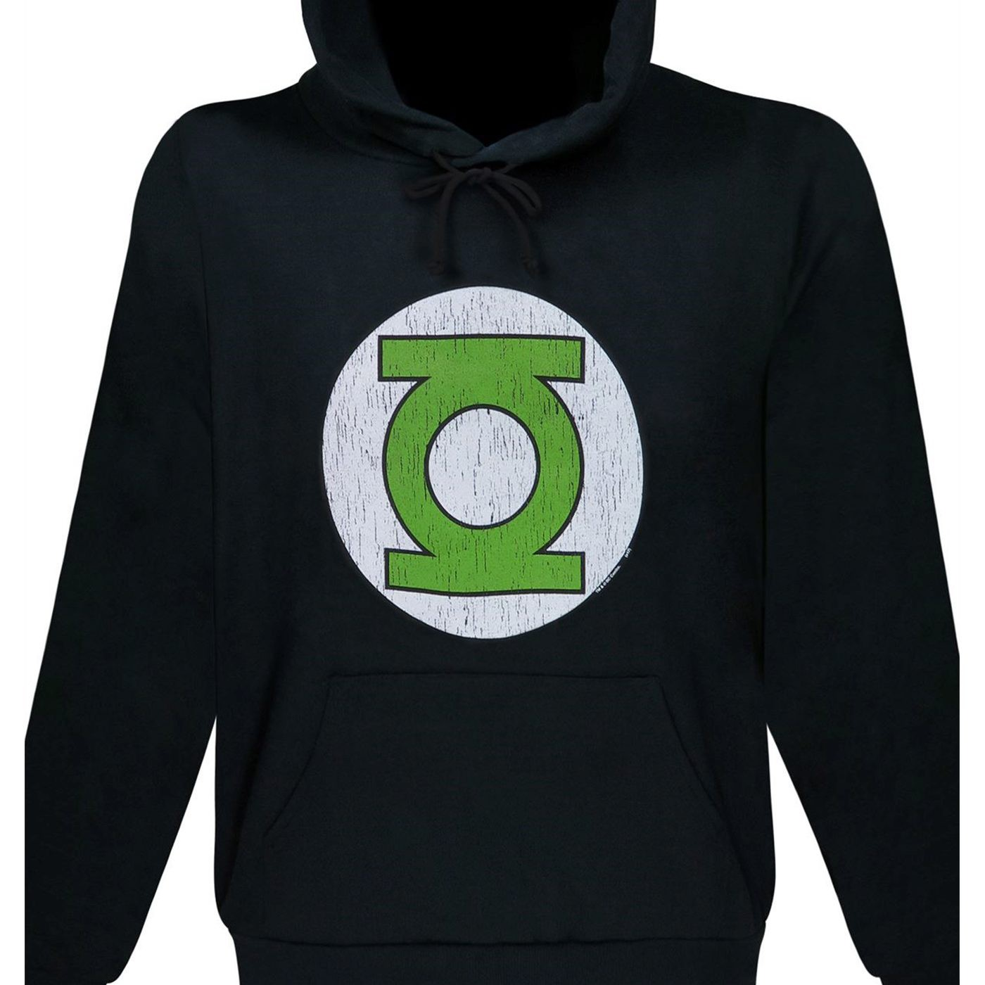Green Lantern Distressed Symbol Black Hoodie