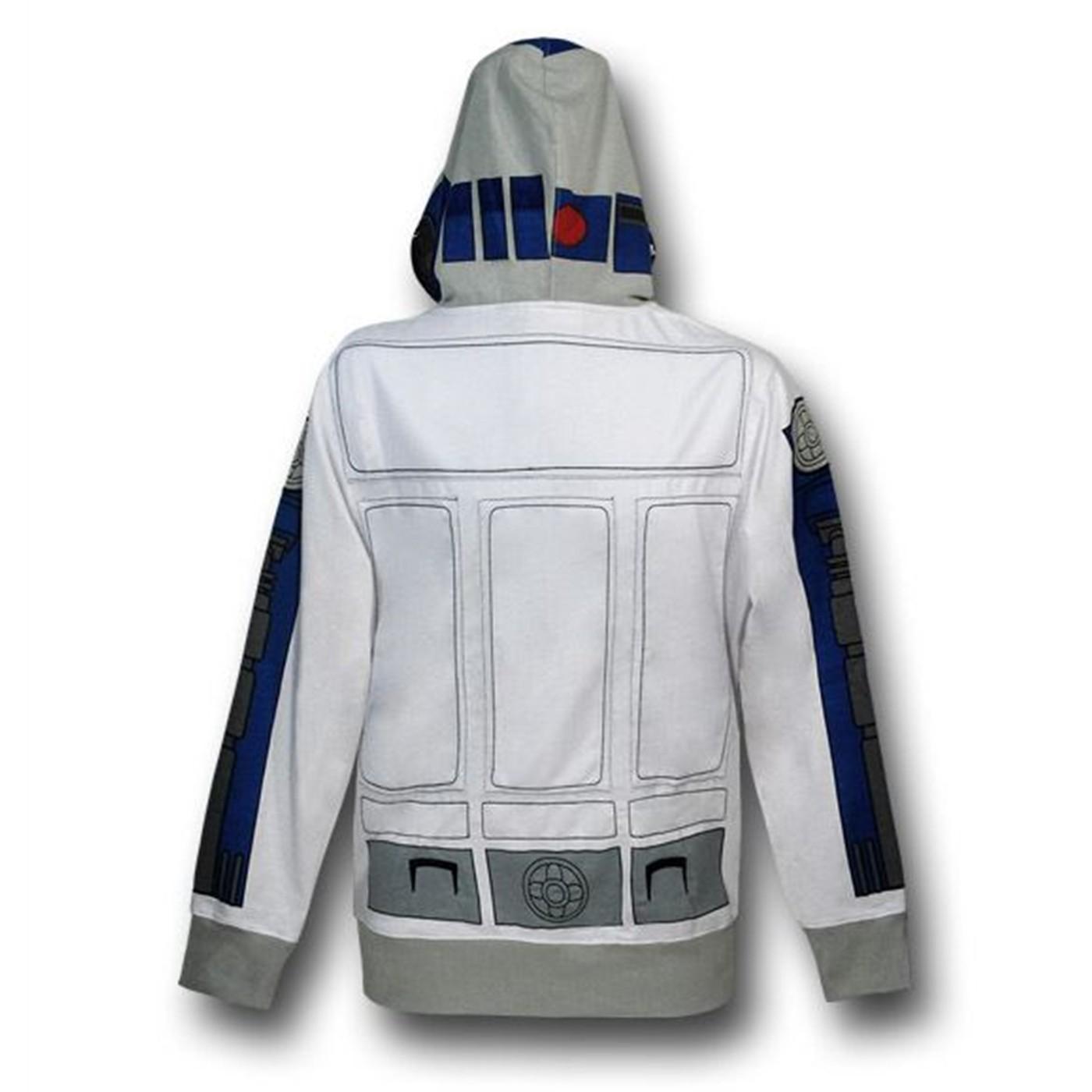 Star Wars R2D2 Costume Zip Hoodie