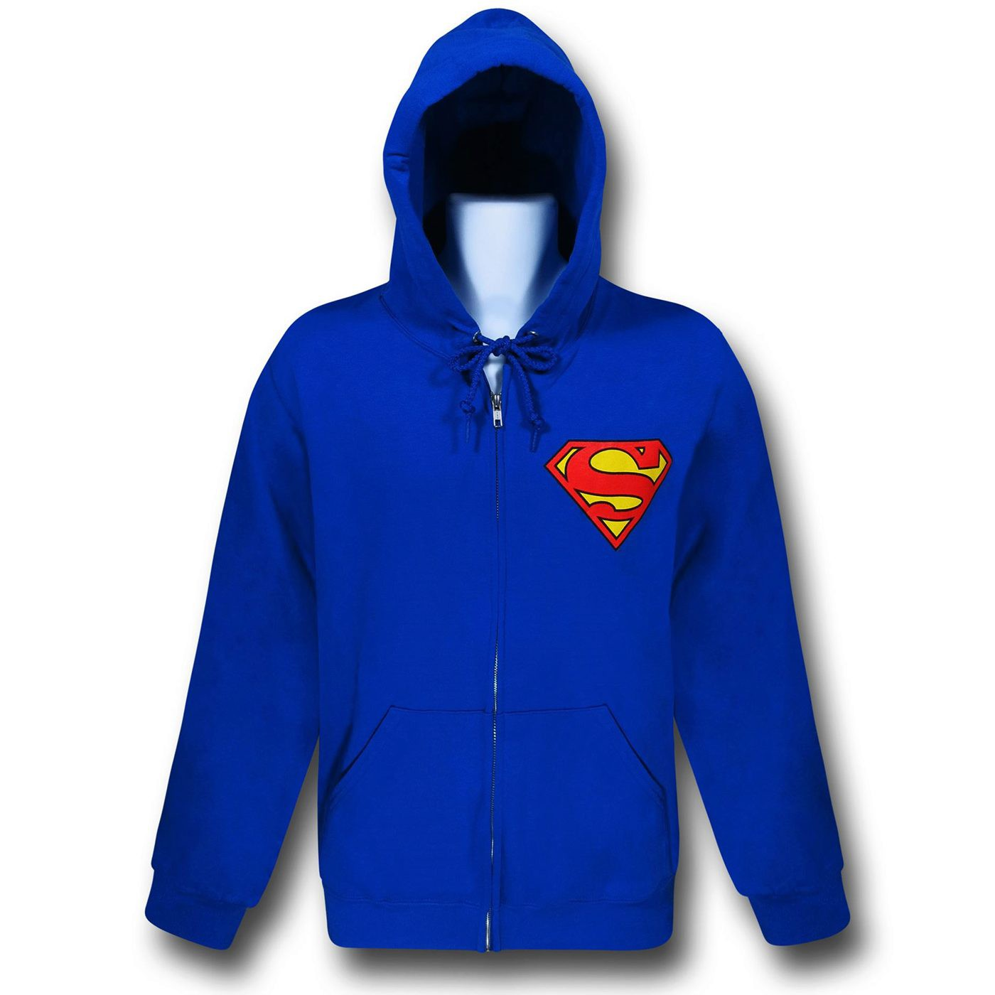 Superman Big Symbol Back Zip-Up Hoodie