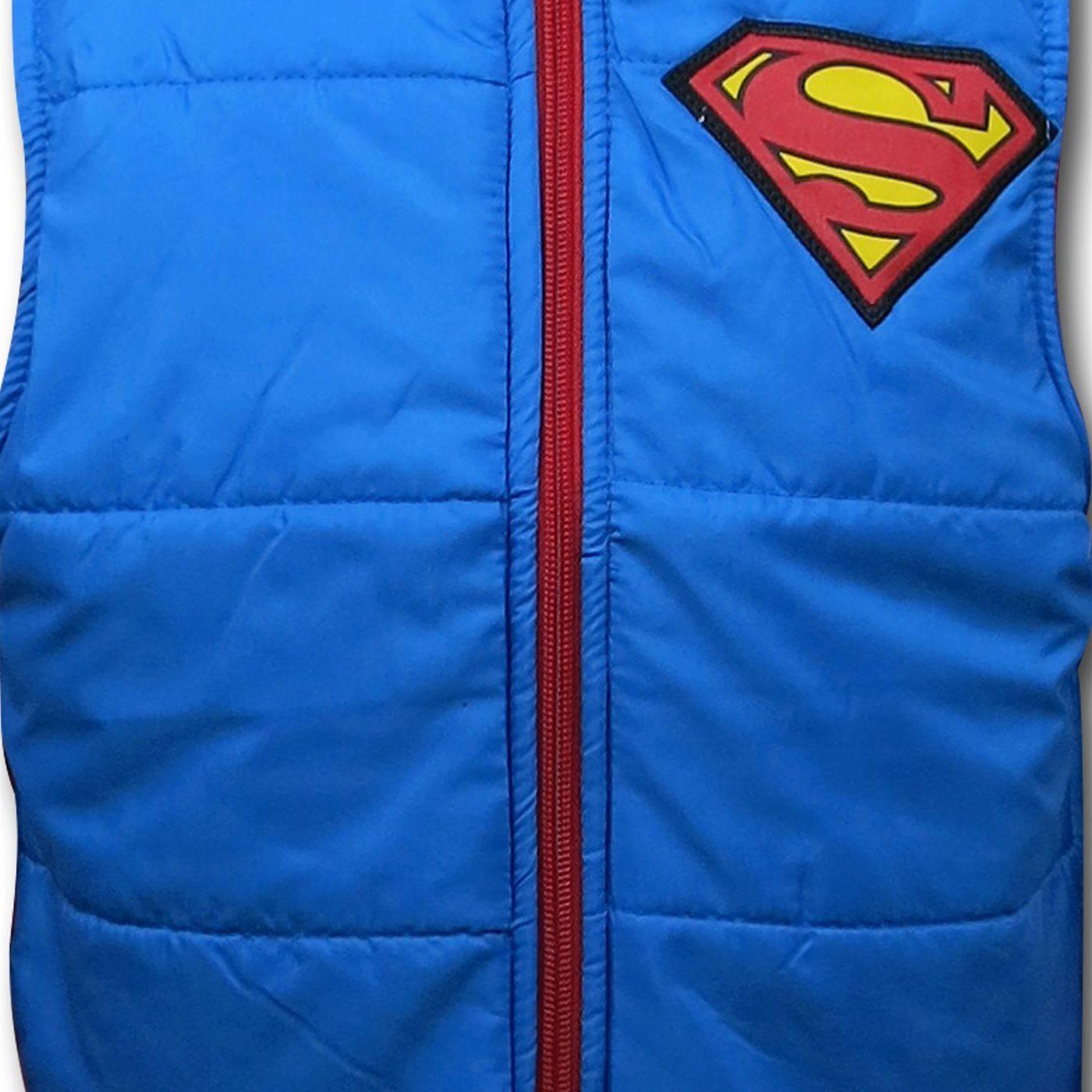 Superman Hoodie & Vest Kids Set