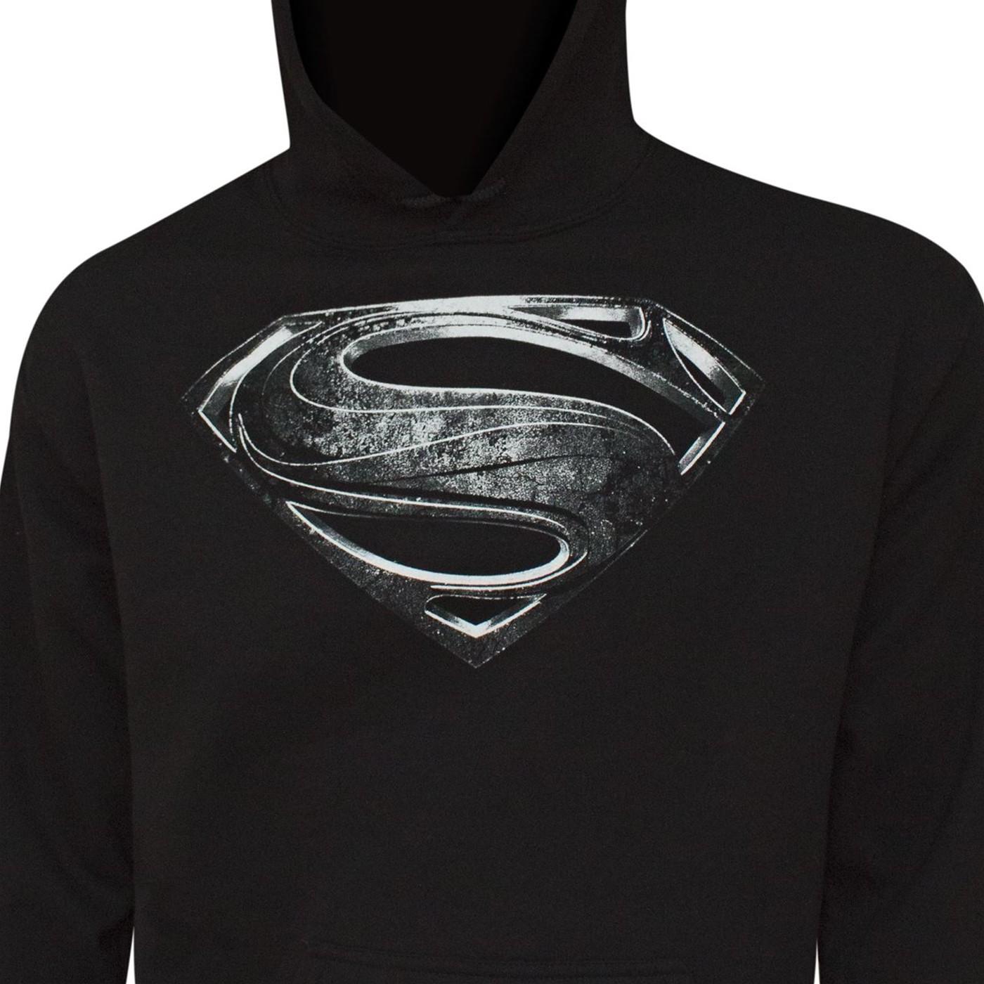 Superman Silver Movie Symbol Men's Hoodie