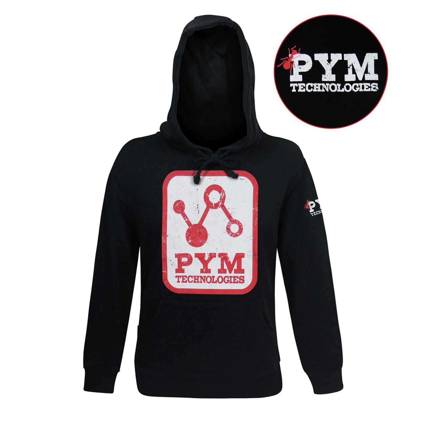 Pym Tech Distressed Logo Men's Hoodie
