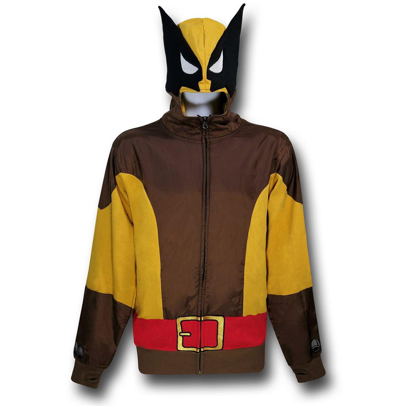 Wolverine Masked Brown Costume Hoodie