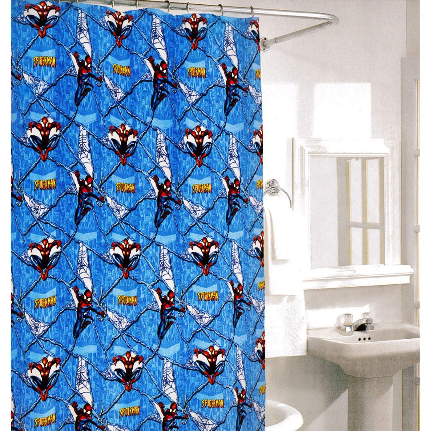 Spiderman Vinyl Shower Curtain