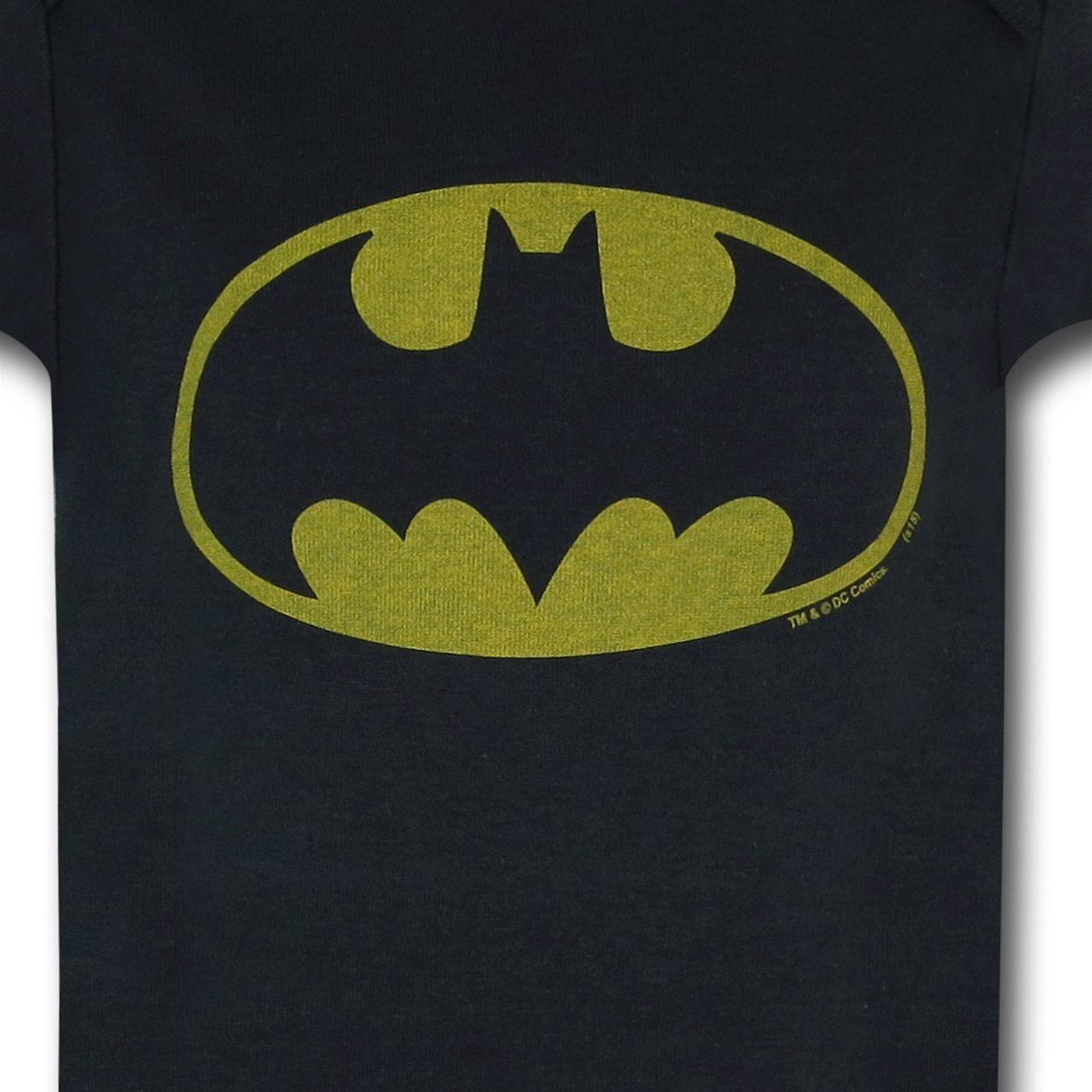 Batman Distressed Symbol Infant Snapsuit