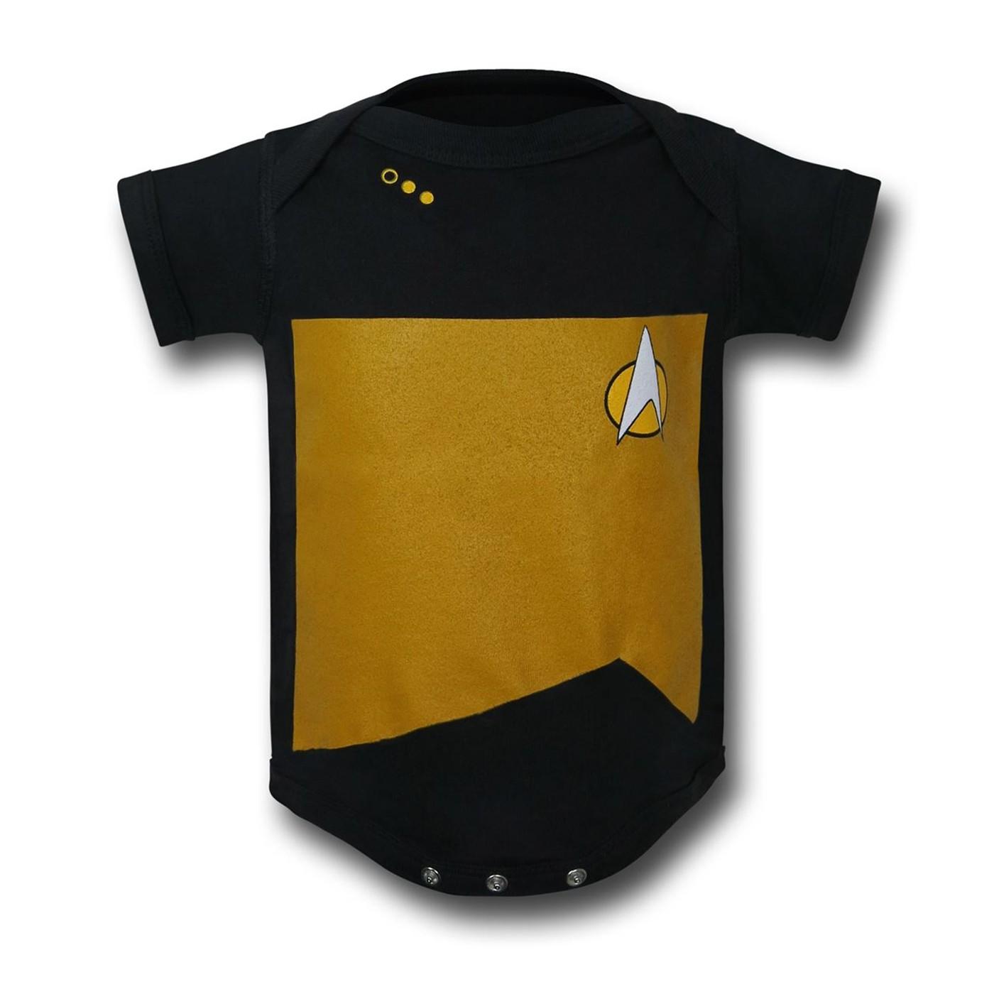 Star Trek TNG Security/Engineering Infant Snapsuit