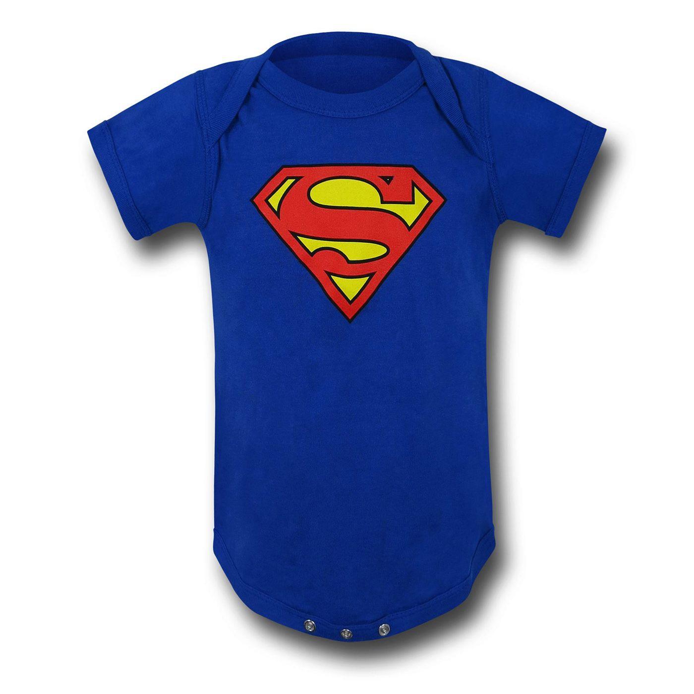 Superman Symbol Royal Blue Infant Snapsuit