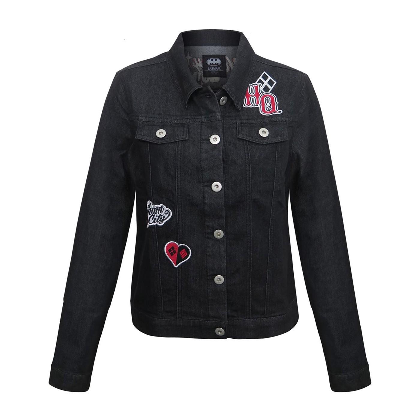 Harley Quinn Animated Women's Denim Jacket