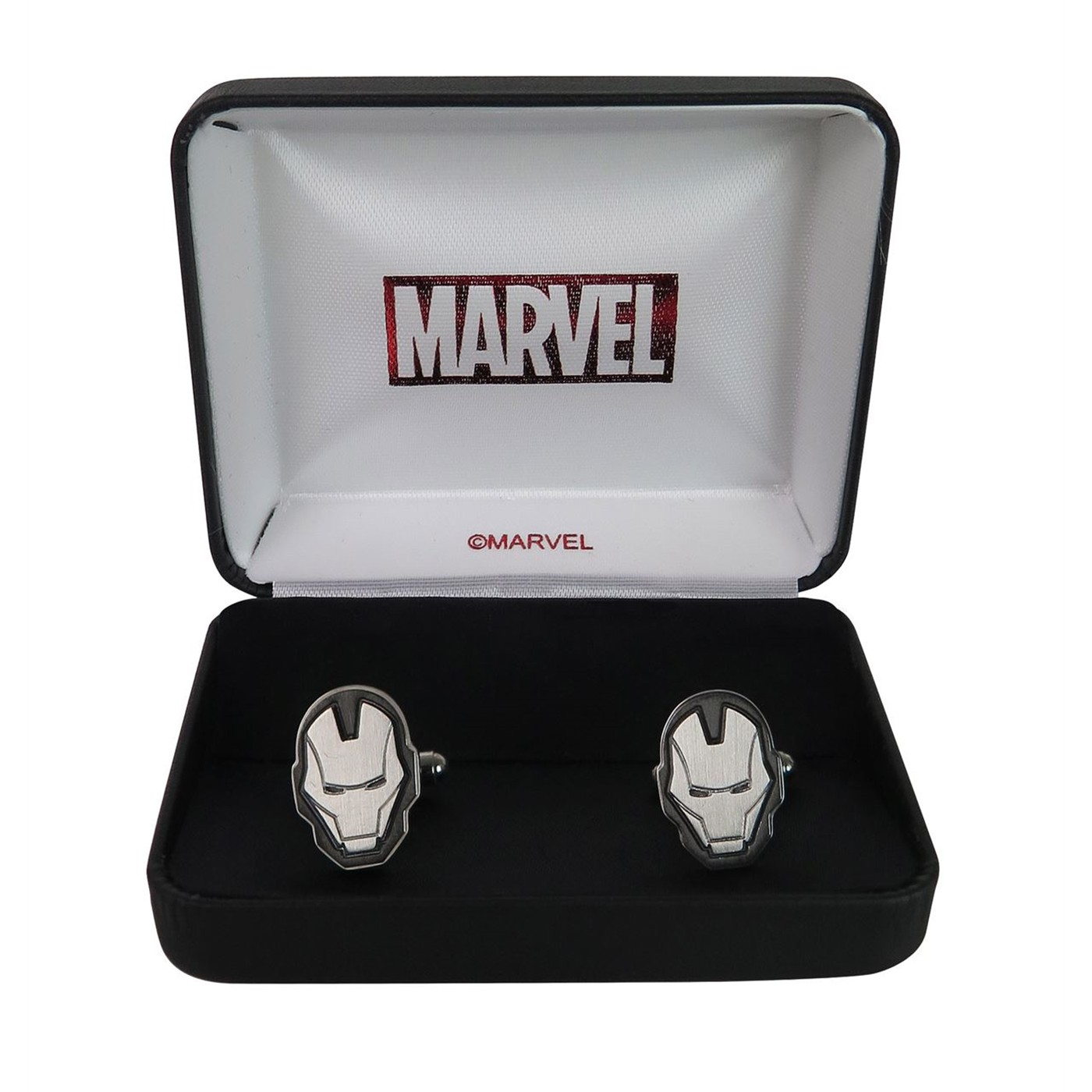 Iron Man Face Stainless Steel Plated Cufflinks