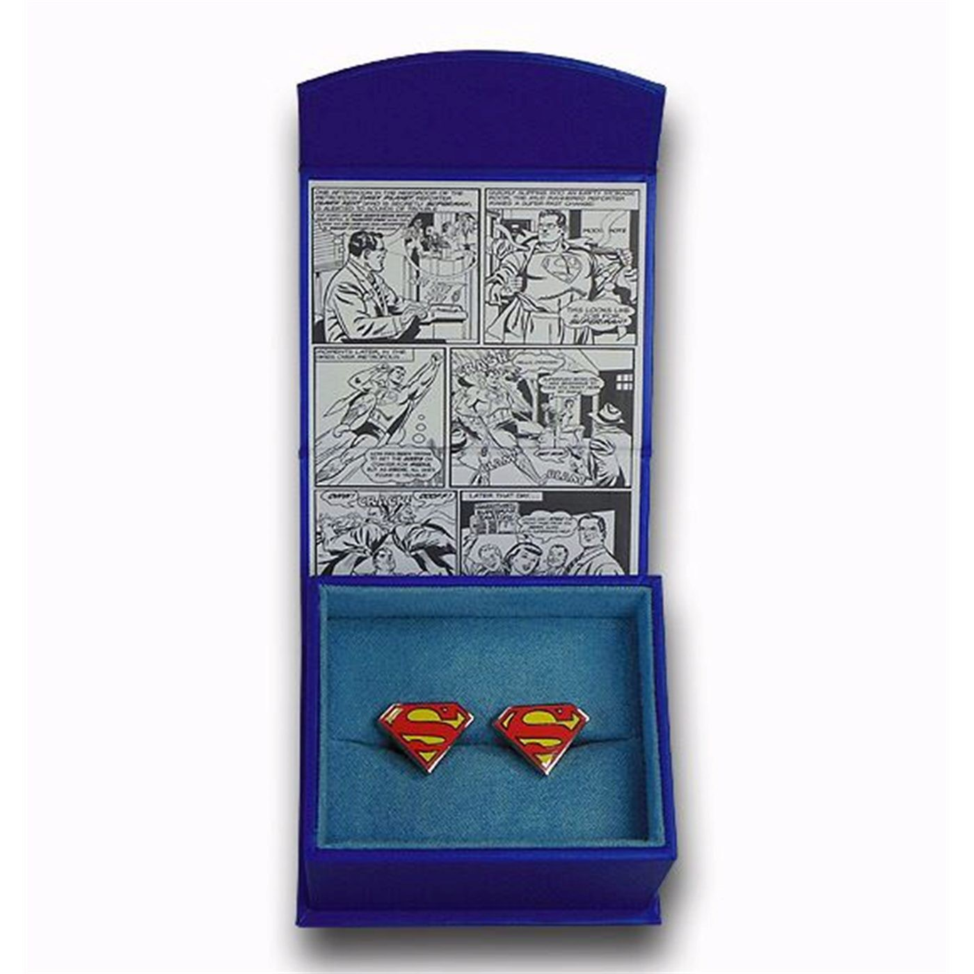 Superman Shield Color Enamel Cufflinks