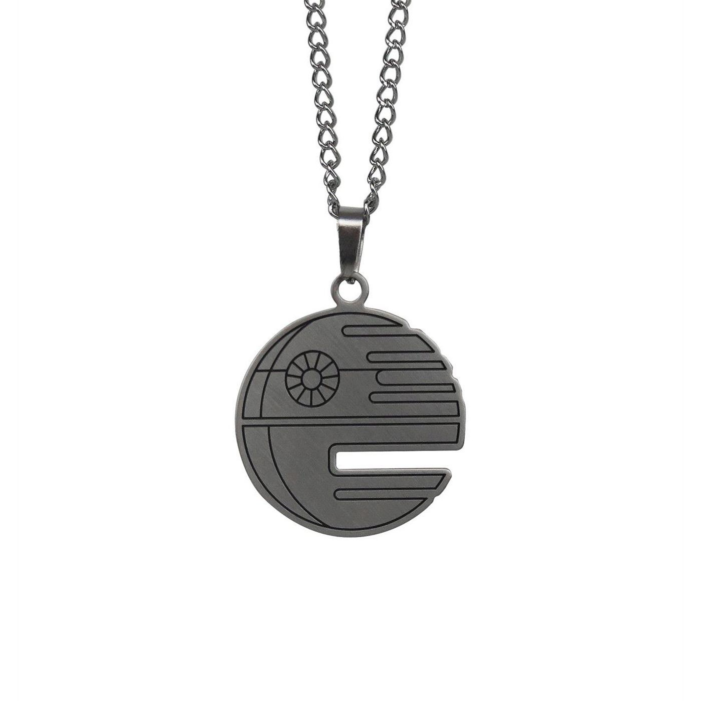 Star Wars Death Star Stainless Steel Plated Necklace