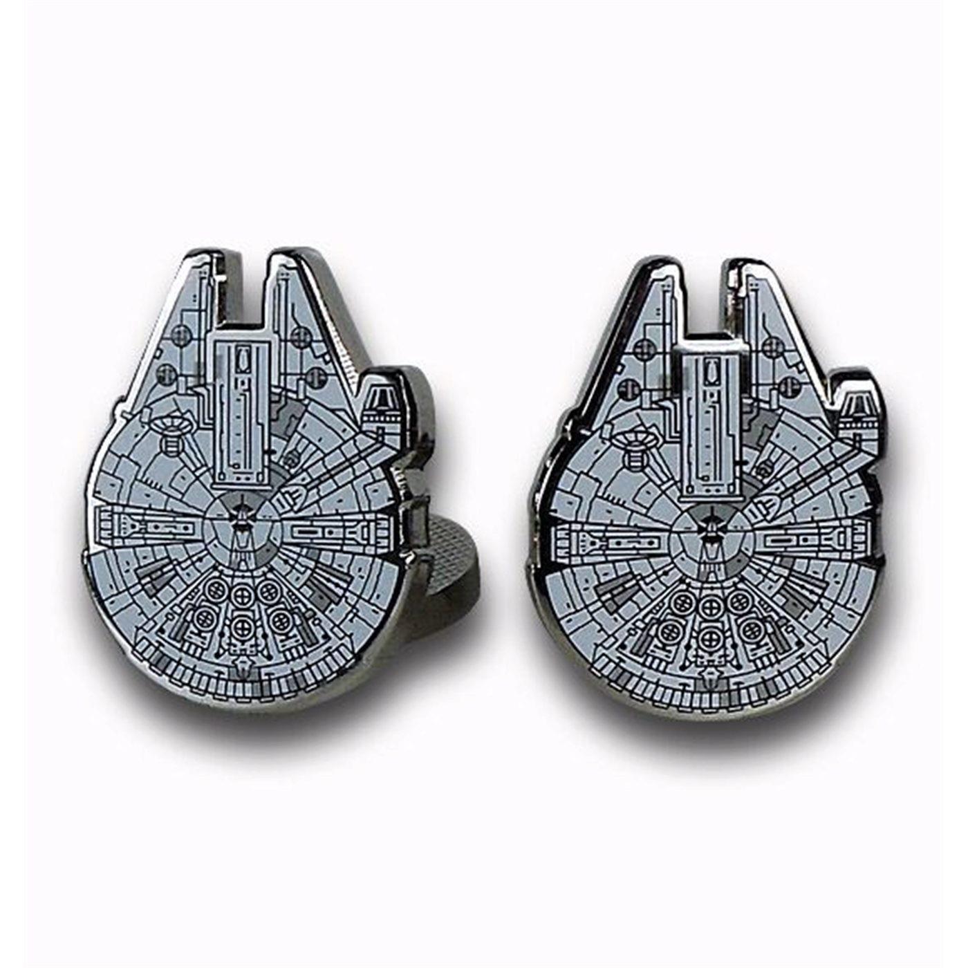 Star Wars Millennium Falcon Cufflinks