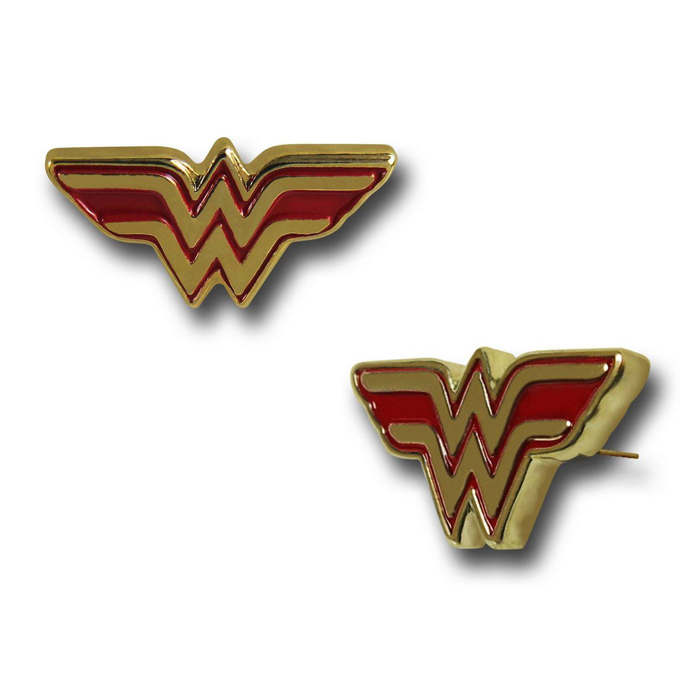 Wonder Woman Symbol Stud Earrings