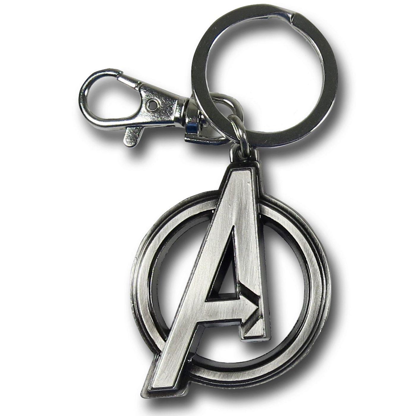 Avengers Symbol Pewter Keychain