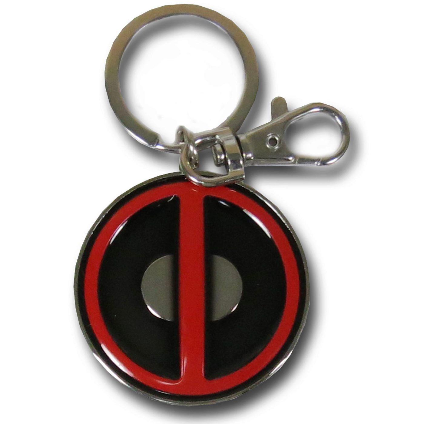 Deadpool Symbol Pewter Keychain