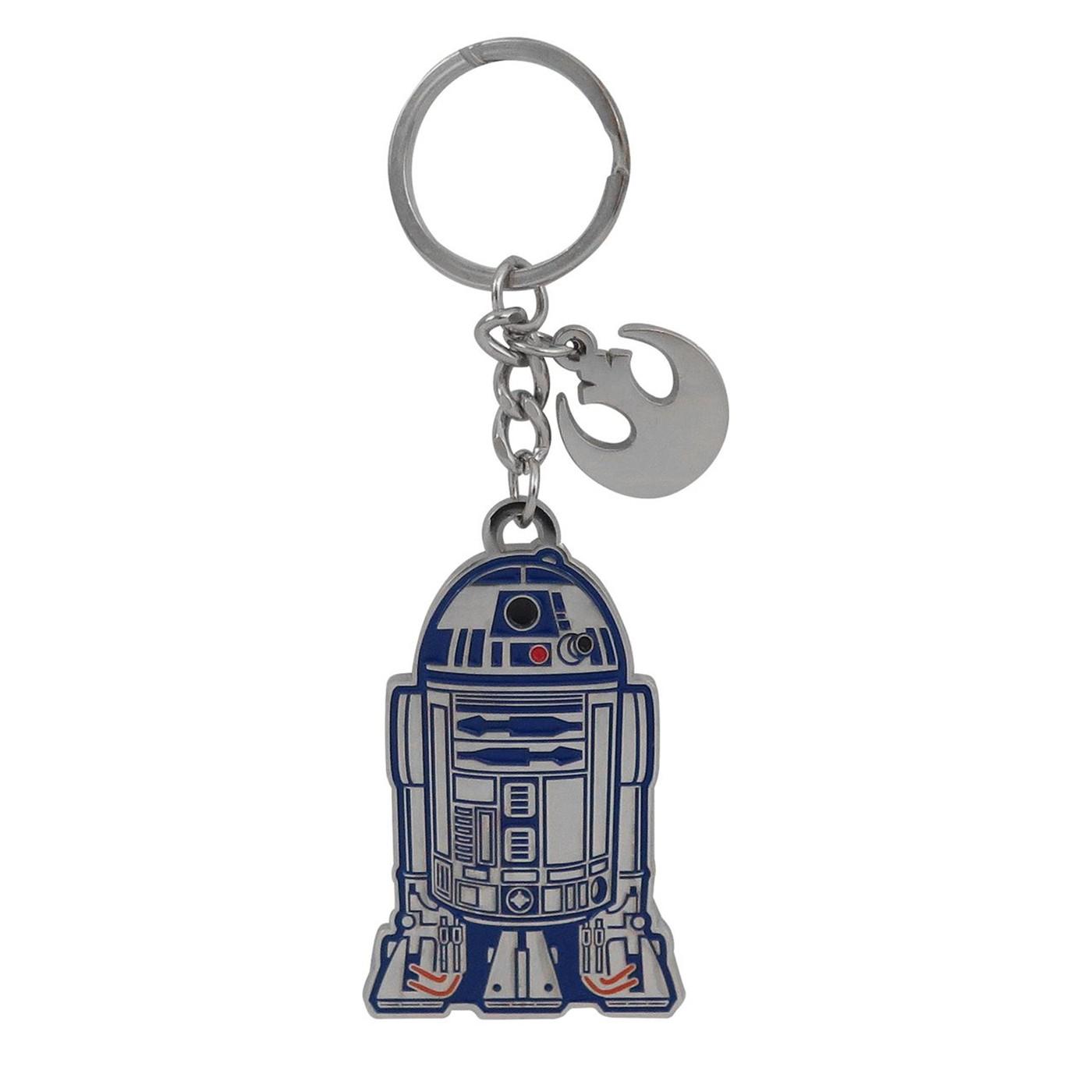 Star Wars R2-D2 Metal Keychain